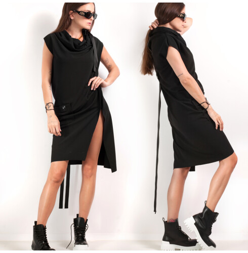 ASYMETRIC DRESS black