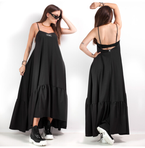 RUFFLE DRESS maxi