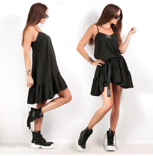 RUFFLE DRESS mini