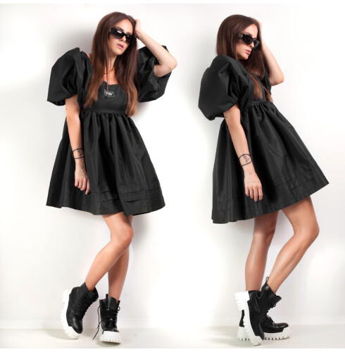 PUFF DRESS black